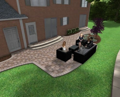 3D Backyard Patio Design