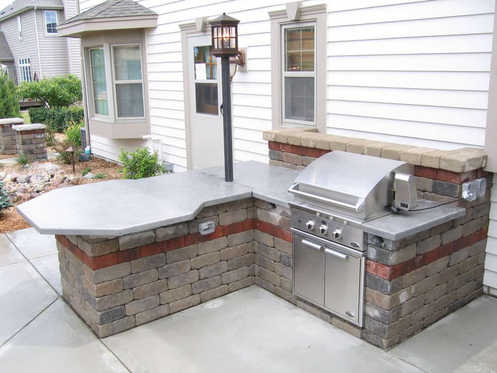 Outdoor kitchens built in grillsmuskego wi for Outdoor patio built in grills