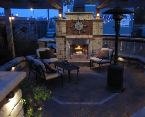 Custom Brick Fireplace Shorewood, WI