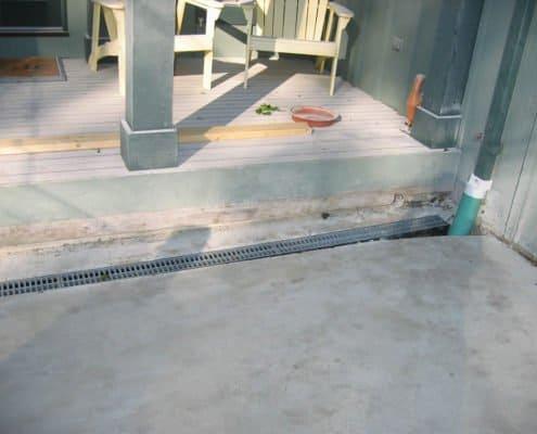 drainage solution sidewalk
