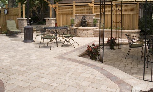 10x10 paver patio pictures to pin on pinterest pinsdaddy for Courtyard landscape oostburg wi