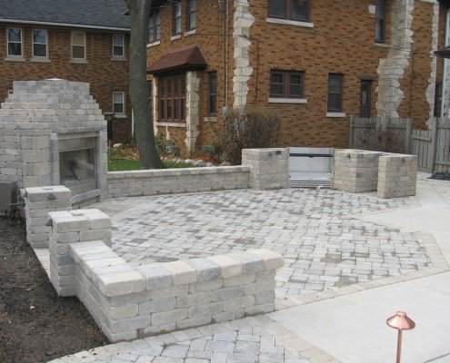 Paver Patio with Fireplace Milwaukee, WI