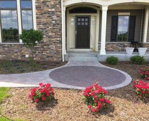 Custom Stone Front Entrance
