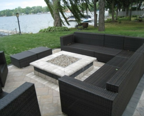 Custom Designed Gas Fire Pit